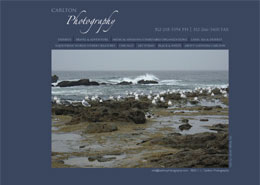 Carlton photography landing page