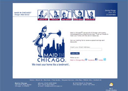 Maid in Chicago landing page