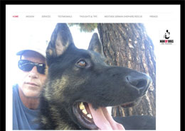 Man of Dogs landing page
