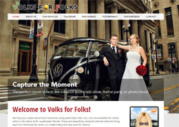 Volks for Folks landing page