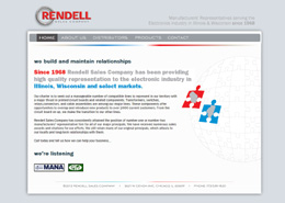 Rendell Sales landing page